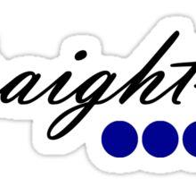Straight 6 blue Sticker