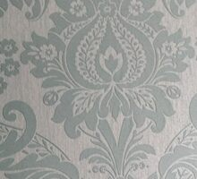 Duck Egg Blue Damask Design Sticker