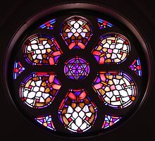 Iglesia del Valle Rosary Window by stine1
