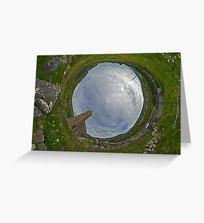 Glencolmcille Church - Sky In Greeting Card