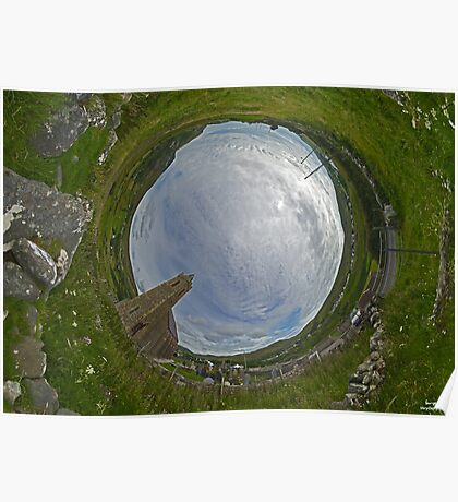 Glencolmcille Church - Sky In Poster