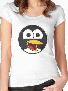 Angry tux Women's Fitted Scoop T-Shirt