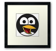 Angry tux Framed Print