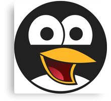 Angry tux Canvas Print