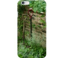 Spade and fork in the garden iPhone Case/Skin