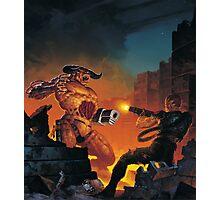 Doom II 1994 textless Poster PC Photographic Print