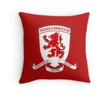 Middlesbrough Football Club Throw Pillow