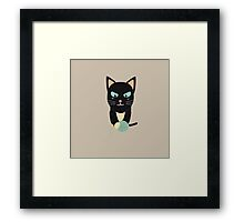 Cat with Ball of Wool Framed Print