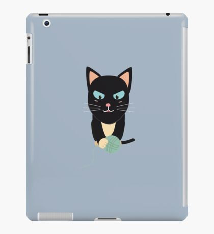 Cat with Ball of Wool iPad Case/Skin