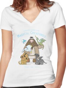 Hagrid's Home for Magical Creatures Women's Fitted V-Neck T-Shirt