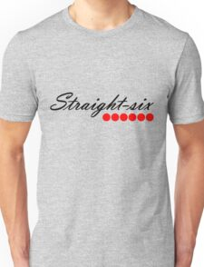 Straight 6 red Unisex T-Shirt