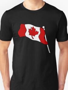 Waving Canadian Flag Unisex T-Shirt
