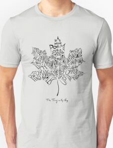THE TRAGICALLY HIP - typography edition black summer tour 2016 copy Unisex T-Shirt