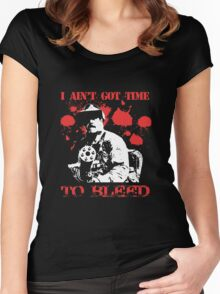 Predator I Aint Got Time To Bleed (Black) Women's Fitted Scoop T-Shirt