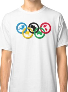 Continent Olympic Rings 2016 Classic T-Shirt