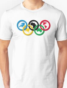 Continent Olympic Rings 2016 Unisex T-Shirt