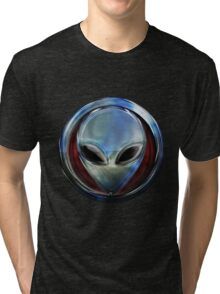Metal Alien Head 03 Tri-blend T-Shirt