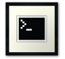 Linux command prompt Framed Print