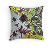 Textured Thistle Throw Pillow
