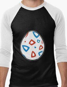 Togepi Egg Design Men's Baseball ¾ T-Shirt