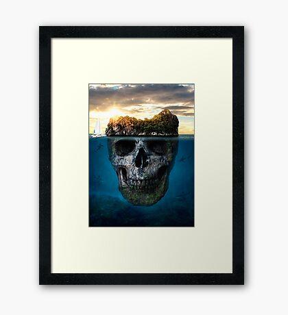 Mysterious island Framed Print