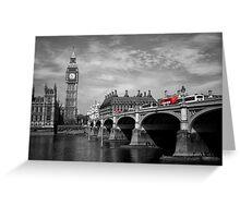Westminster Bridge and Big Ben Greeting Card