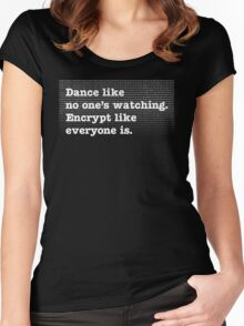 Dance Like No One's Watching Encrypt Like Everyone Is Women's Fitted Scoop T-Shirt