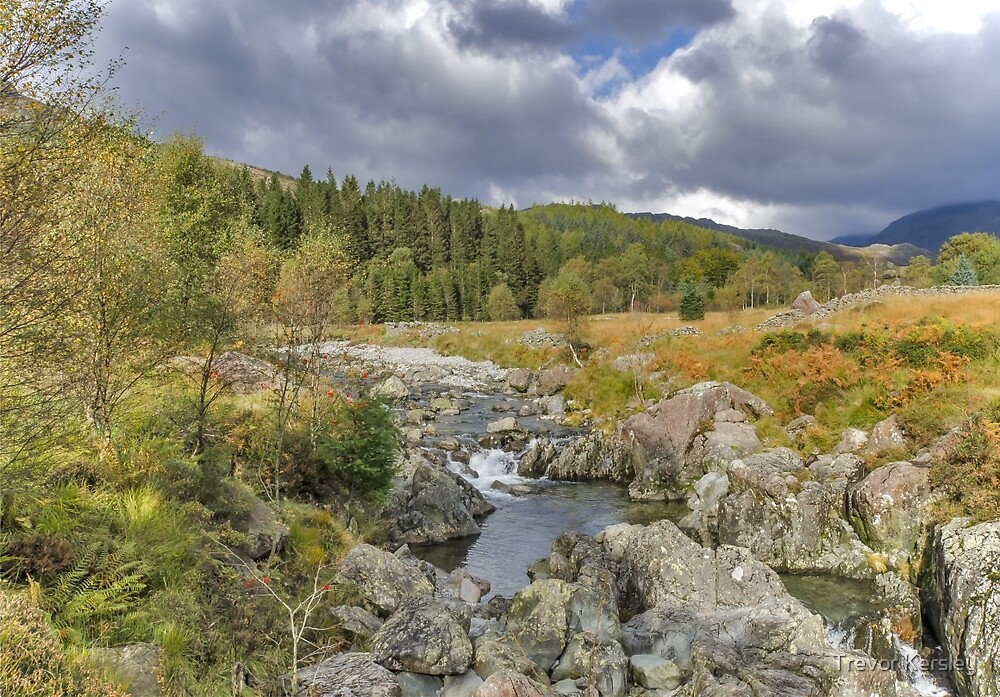 River Duddon Lake District by Trevor Kersley