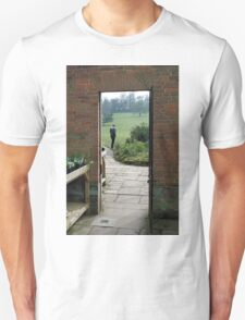 Step into where? Unisex T-Shirt