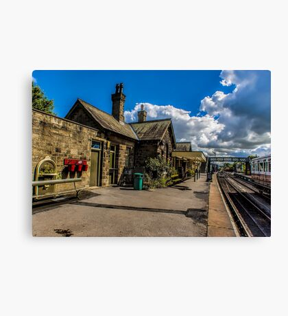 The Station Platform Canvas Print