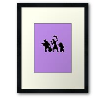 Haunted Mansion Hitchhiking Ghosts Framed Print
