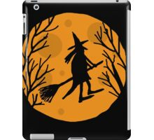 Halloween witch - orange moon iPad Case/Skin
