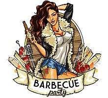 Barbacue Party Photographic Print