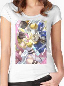 Angewomon & Angemon Women's Fitted Scoop T-Shirt