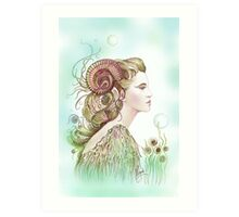 """""""THE ARIES"""" - Protective Angel for Zodiac Sign Art Print"""