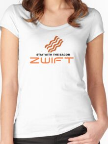 STAY WITH THE BACON - ZWIFT Women's Fitted Scoop T-Shirt