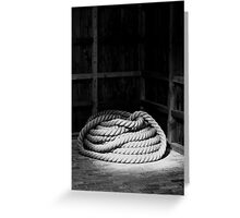 Canal Rope Greeting Card