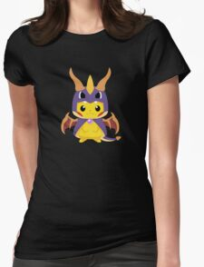 Mega Spyro Pikachu Womens Fitted T-Shirt