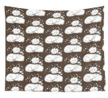 Sweet Dreams Daschy Pattern Brown Wall Tapestry