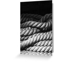 Canal Rope Detail Greeting Card
