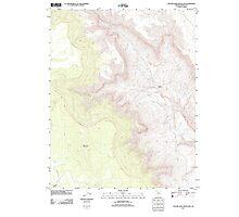 USGS TOPO Map Arizona AZ Yellow John Mountain 20111031 TM Photographic Print