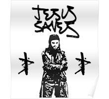 + Jesus Saves + Poster