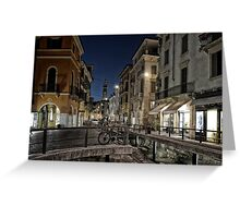 Verona after Midnight Greeting Card