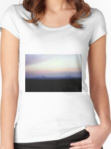 Sunset Landscape Women's Fitted Scoop T-Shirt