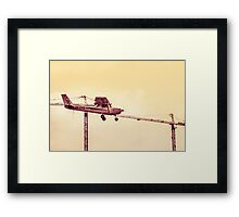 Herzliya Plane Colour Mix Framed Print