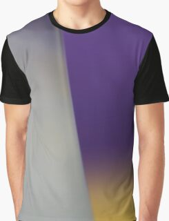 Purple Yellow Milky White Abstract Graphic T-Shirt