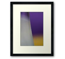 Purple Yellow Milky White Abstract Framed Print