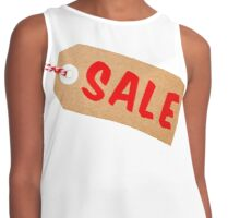 Sale Tag Brown Card With String Contrast Tank