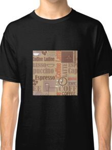 Texture of Coffee.Seamless Classic T-Shirt