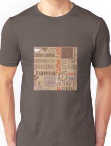Texture of Coffee.Seamless Unisex T-Shirt